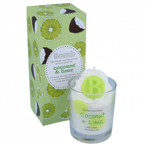 Coconut & Lime Hand Piped Candle