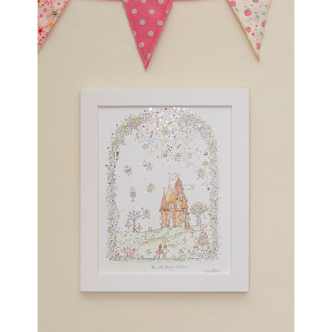 Porch Fairies Small Frame Picture - Old Fairy Castle