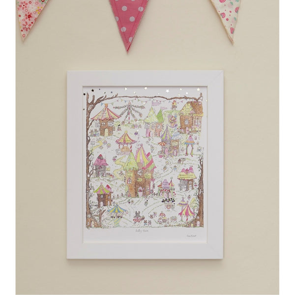 Porch Fairies Small Frame Picture - Fairy Town