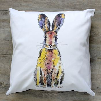 Toasted Crumpet - 40x40cm Hare Cushion