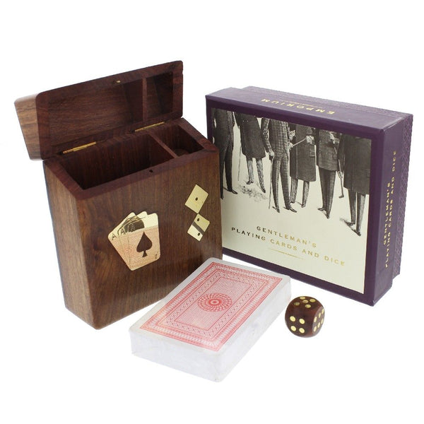 Emporium Playing Cards & Dice with Wooden Box