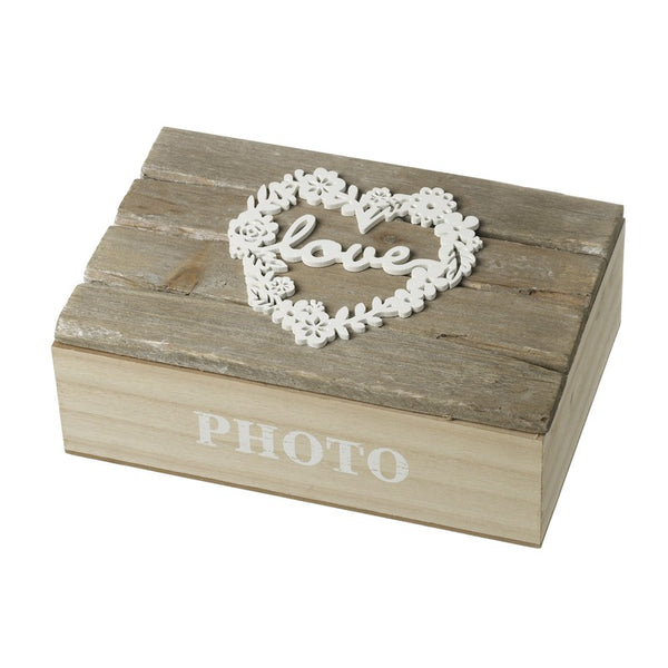 Wooden Love Photo Box