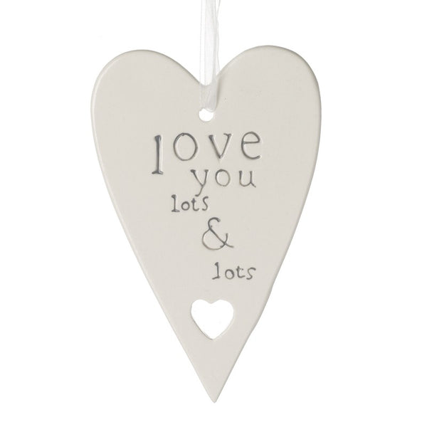 Hanging Ceramic Heart Plaque