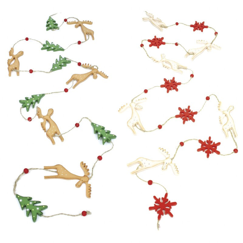 Wooden Deer Garland Mix SOLD INDIVIDUALLY