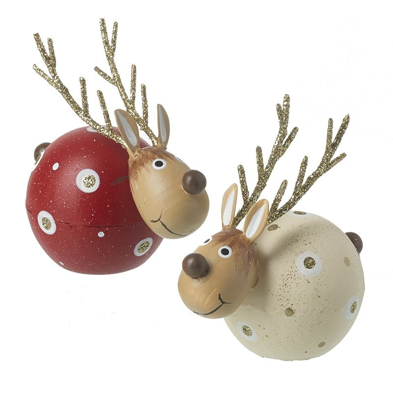 Mix Of 2 Metal Reindeer Decorations