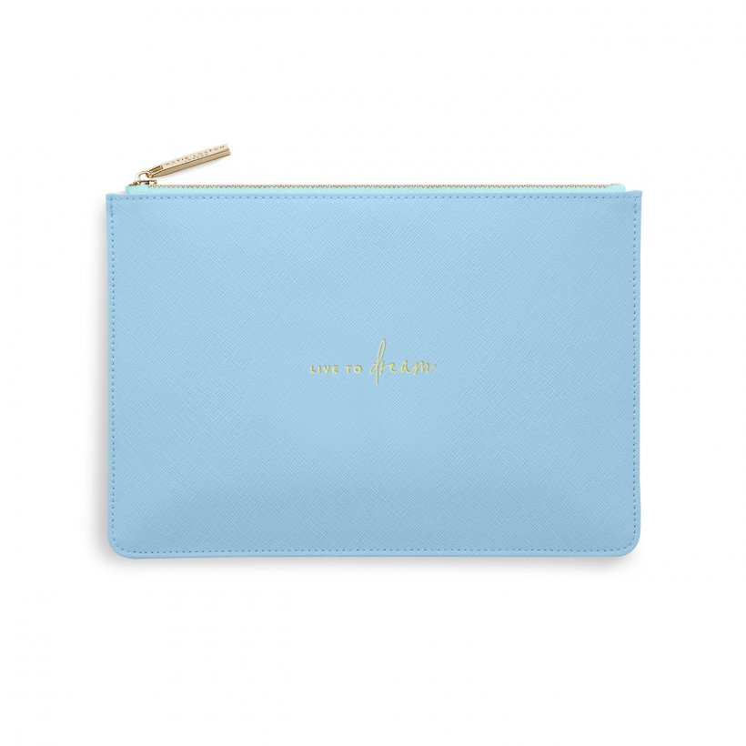 COLOUR POP PERFECT POUCH | LIVE TO DREAM | BLUE AND PALE BLUE