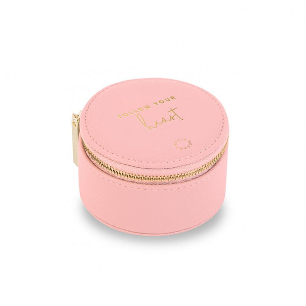SMALL CIRCLE JEWELLERY BOX | FOLLOW YOUR HEART | PINK