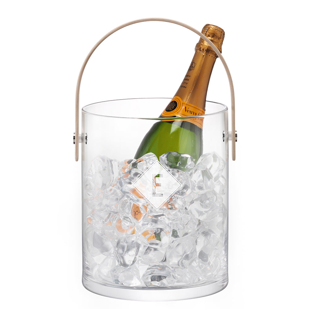 LSA Monogrammed Ash Handle Ice Bucket