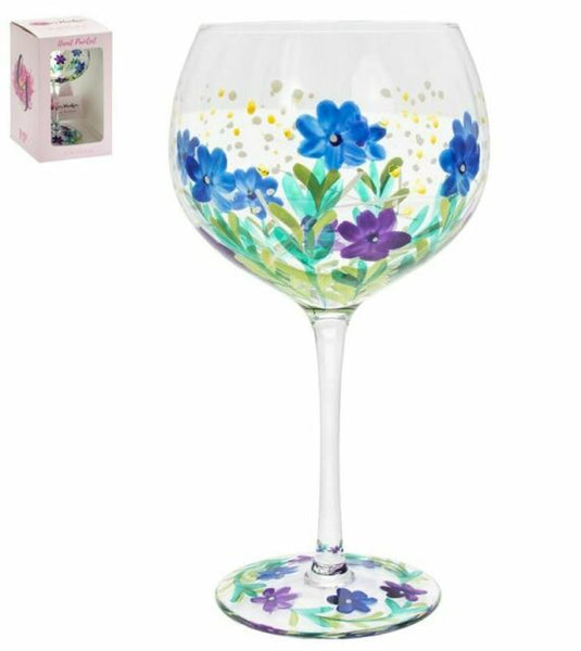 Hand painted Gin Glass - Meadow