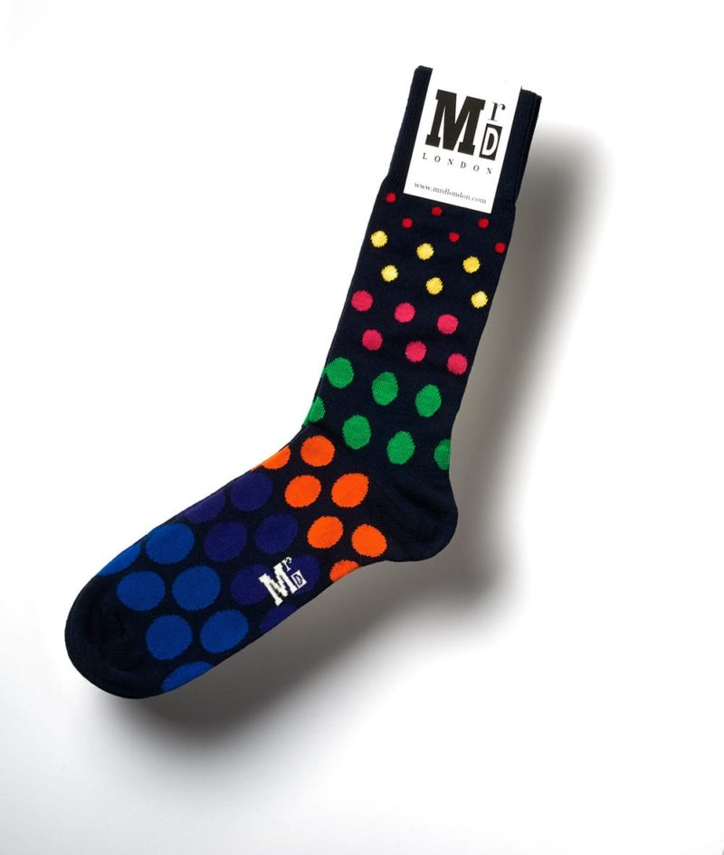 Navy Multi Spot Socks