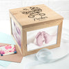 PERSONALISED BABY BOY PHOTO MEMORY BOX