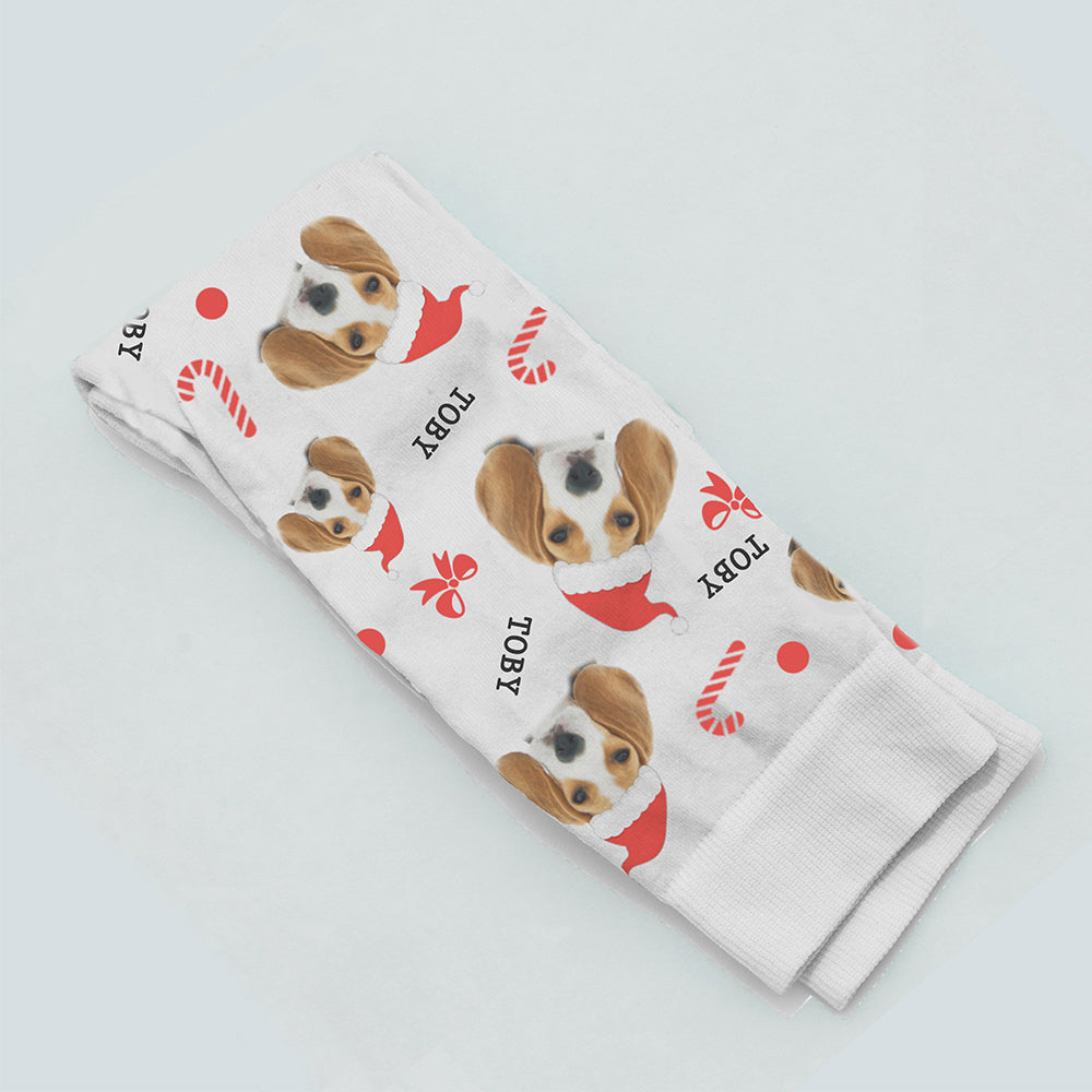 PERSONALISED CHRISTMAS PET PHOTO SOCKS