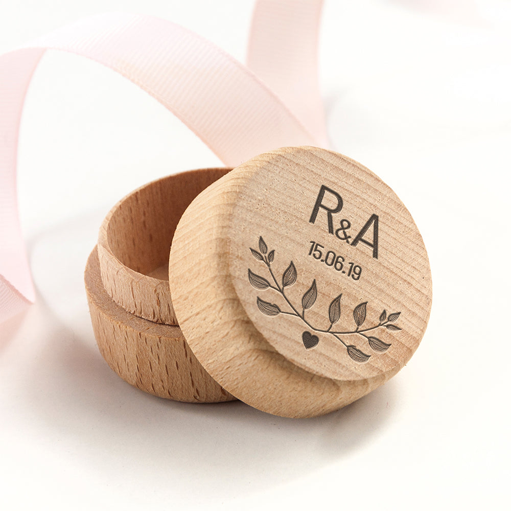 PERSONALISED SPECIAL DATE RING BOX