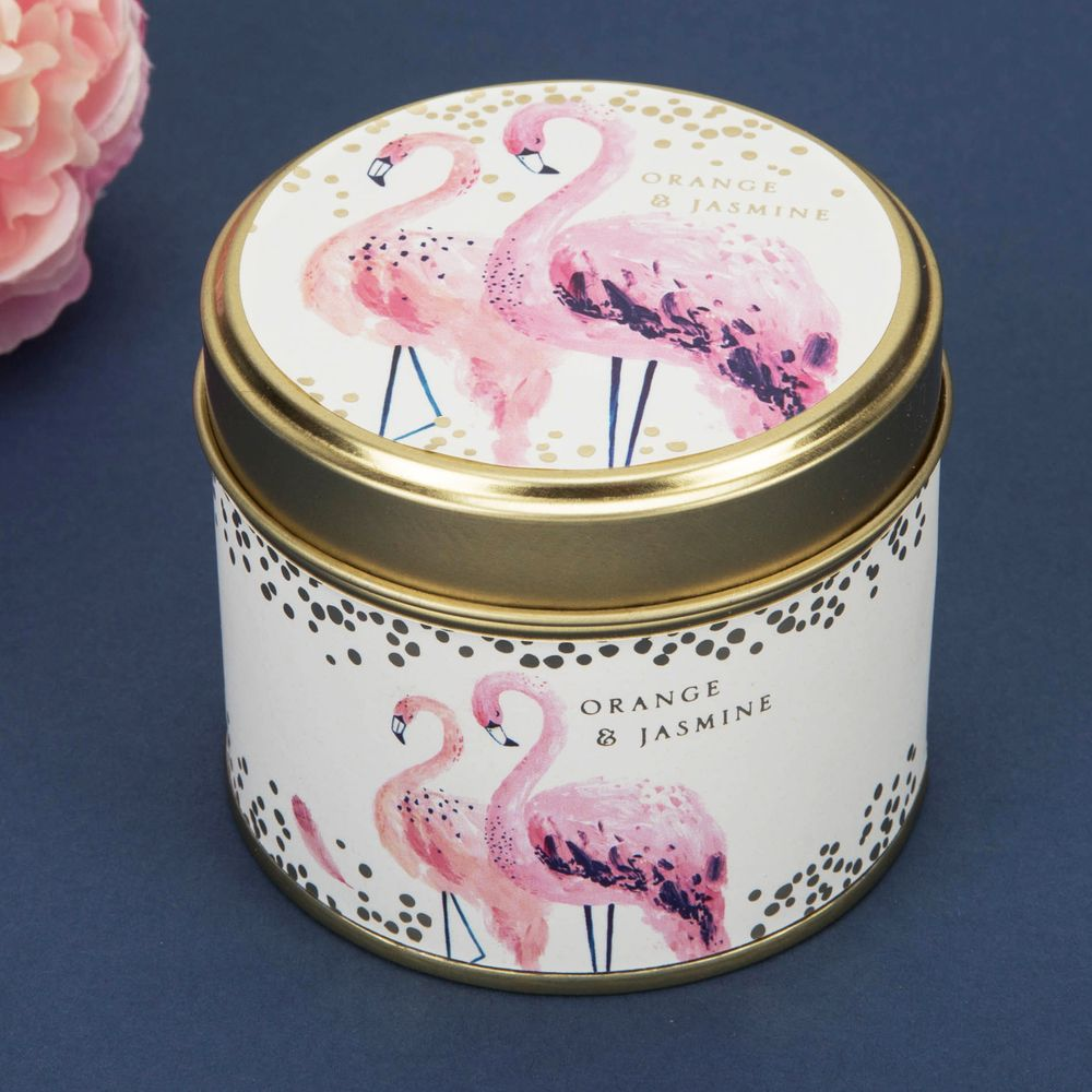 SWAN LAKE ORANGE & JASMINE GOLD CANDLE TIN