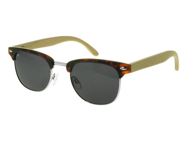 SUNGLASSES POLARISED 'CASINO' TORTOISESHELL/BAMBOO