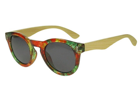 SUNGLASSES POLARISED 'RIVER' RED/BAMBOO