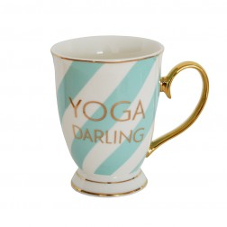 Yoga Darling Striped Mug