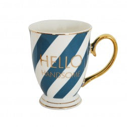 Hello Handsome Striped Mug