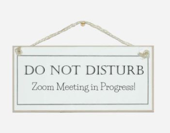 Do Not Disturb, Zoom Meeting sign