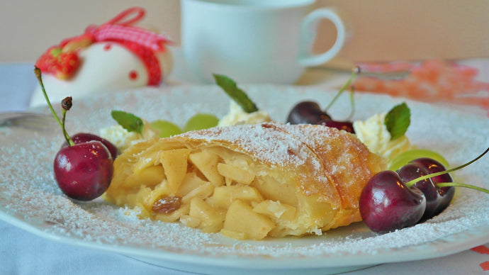 Apple strudel at Sisters Conference