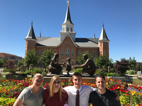 Provo City Center temple - Elder Norwood and family