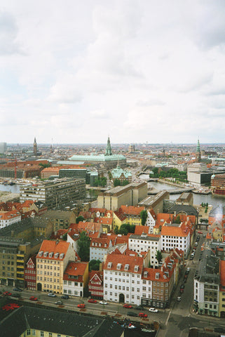 View from the tower of Vor Frelsors Kirke (Our Savior's Church) in Copenhagen