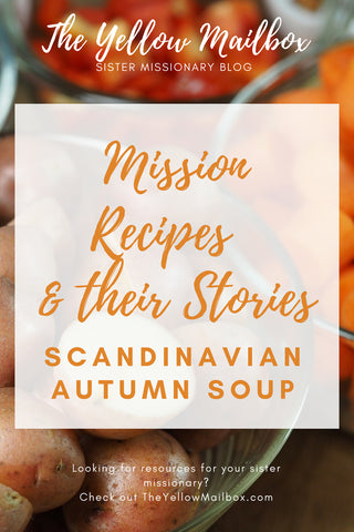 Mission recipes; Scandinavian Autumn Soup