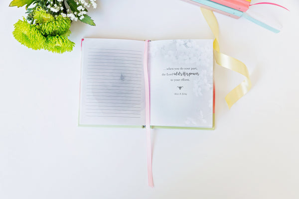 Sister Missionary Pocket Journal--Pink Ranunculus