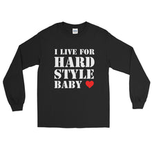 I Live For Hardstyle Baby Long Sleeve Men Women Black by Raverabbit