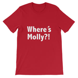 Where's Molly?! T-shirt Men Red by Raverabbit