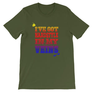 I've Got Hardstyle In My Veins T-shirt Men Olive by Raverabbit
