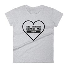 My Heart Beats At 150 BPM T-shirt Women heather grey by Raverabbit