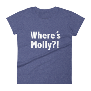 Where's Molly?! T-shirt Women Heather Blue by Raverabbit