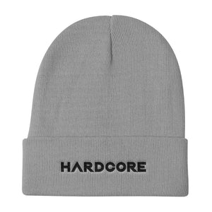 Hardcore Grey Beanie Men Women by Raverabbit