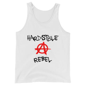 Hardstyle Rebel Tank Top Men Women White by Raverabbit