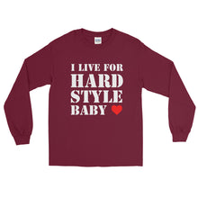 I Live For Hardstyle Baby Long Sleeve Men Women Maroon by Raverabbit