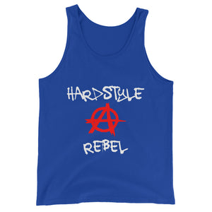 Hardstyle Rebel Tank Top Men Women Blue by Raverabbit