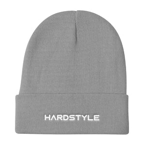 Hardstyle Beanie Men Women Grey by Raverabbit