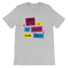 Hardstyle Is My Escape From Reality T-shirt Men Athletic Heather by Raverabbit