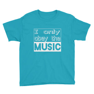I Only Obey The Music T-Shirt Boys Blue by Raverabbit