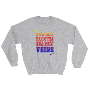 I've Got Hardstyle In My Veins Sweatshirt Men Women Sport Grey by Raverabbit