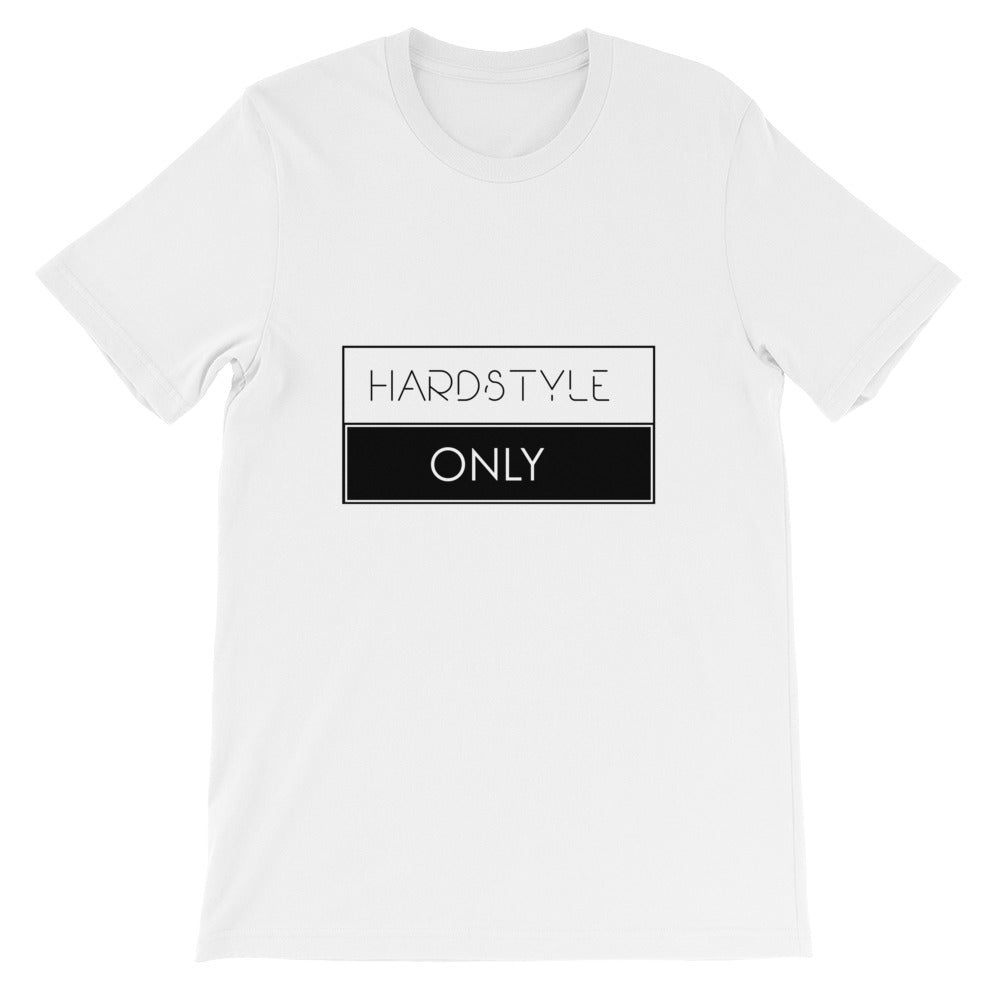 Hardstyle Only T-shirt Men White by Raverabbit