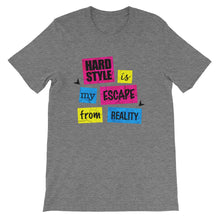 Hardstyle Is My Escape From Reality T-shirt Men Deep Heather by Raverabbit