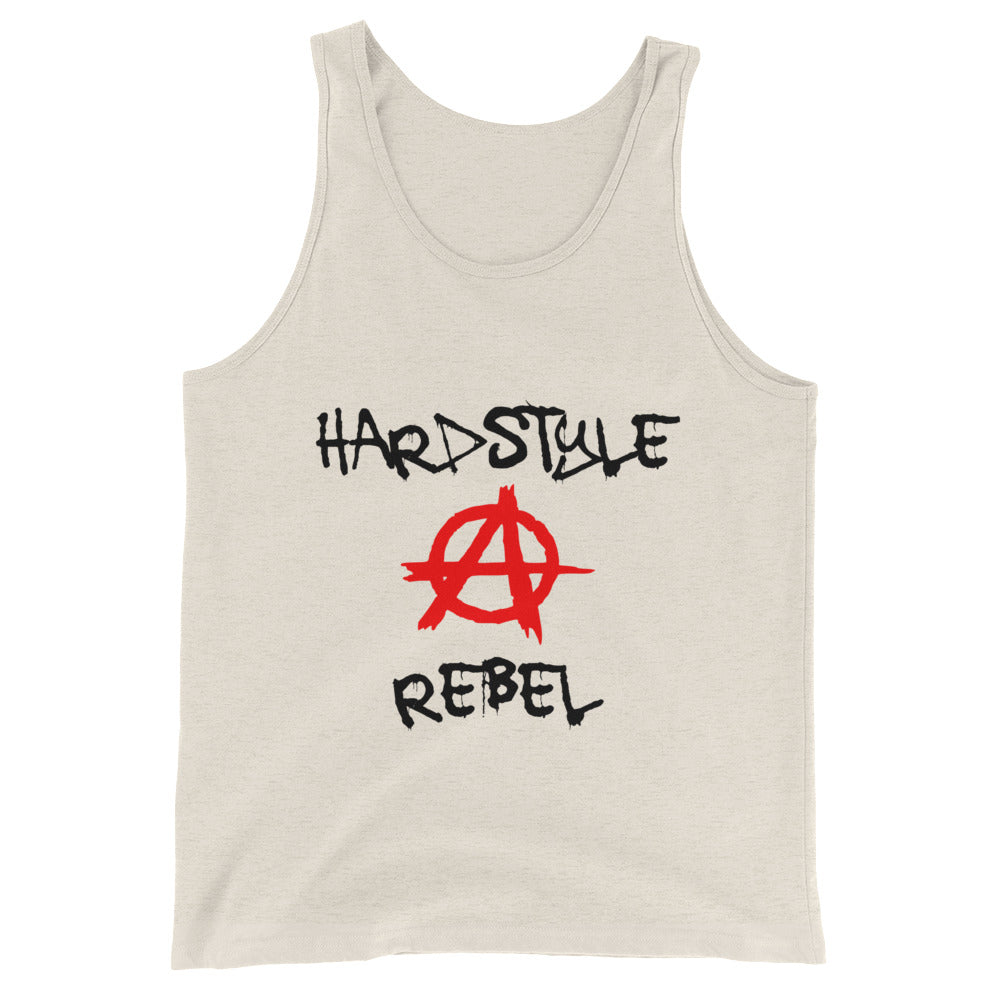 Hardstyle Rebel Tank Top Men Women Oatmeal by Raverabbit