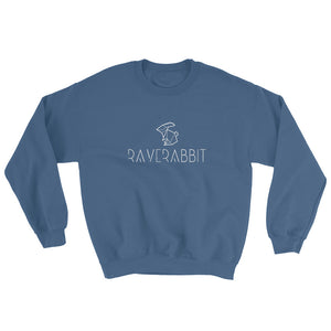 Raverabbit Sweatshirt Men Women indigo blue by Raverabbit