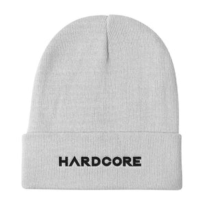 Hardcore Beanie Men Women White by Raverabbit