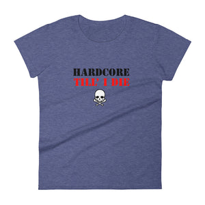 Hardcore Till I Die t-shirt  Women Heather Blue by Raverabbit