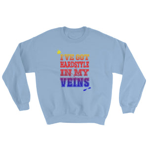 I've Got Hardstyle In My Veins Sweatshirt Men Women light blue  by Raverabbit