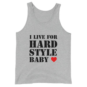I Live For Hardstyle Baby Tank Top Men Women Indigo Athletic Heather by Raverabbit