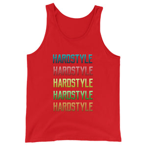 Hardstyle Tank Top Men Women Red by Raverabbit
